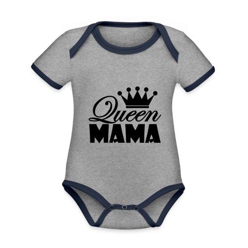 queenmama - Baby Bio-Kurzarm-Kontrastbody