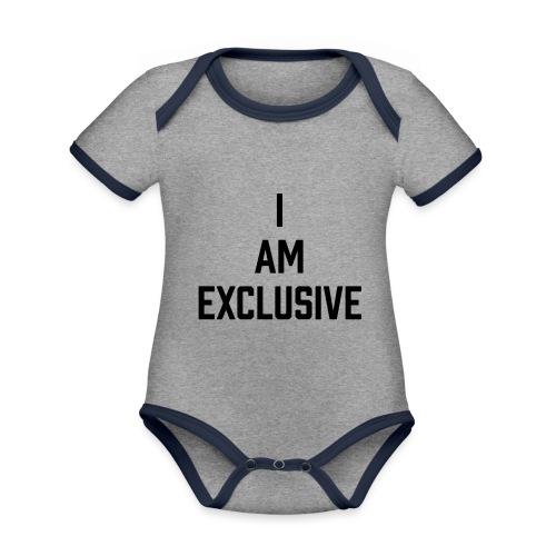 I am Exclusive - Baby Bio-Kurzarm-Kontrastbody