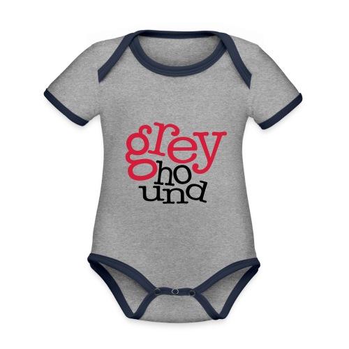 GrEyHoUnD - Body Bébé bio contrasté manches courtes