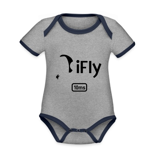 Paragliding iFly 10ms - Organic Baby Contrasting Bodysuit