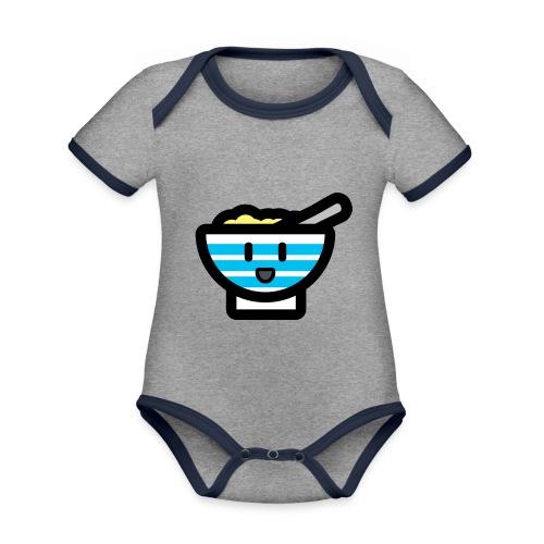 Cute Breakfast Bowl - Organic Baby Contrasting Bodysuit