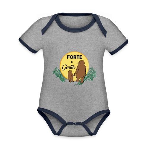 Forte e gentile - Body da neonato a manica corta, ecologico e in contrasto cromatico