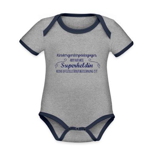 Stoffbeutel: Kindergartenpädagogin - Baby Bio-Kurzarm-Kontrastbody