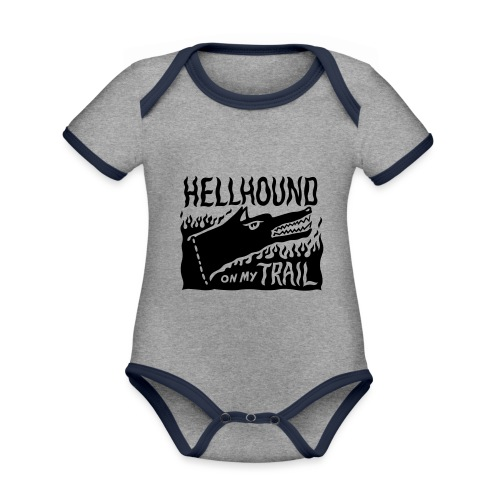 Hellhound on my trail - Organic Baby Contrasting Bodysuit