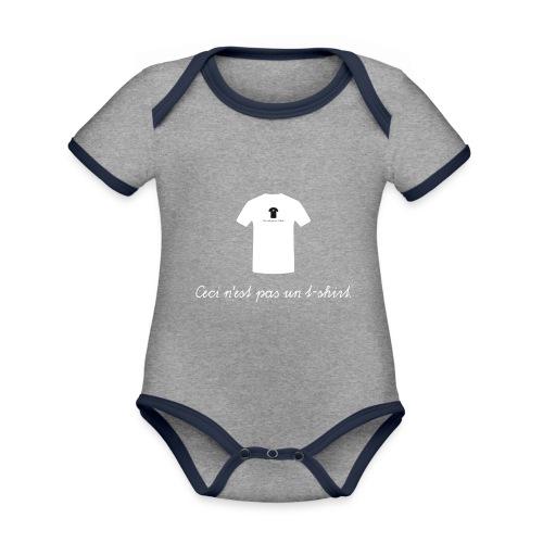Ceci n'est pas un t-shirt. - Baby Bio-Kurzarm-Kontrastbody