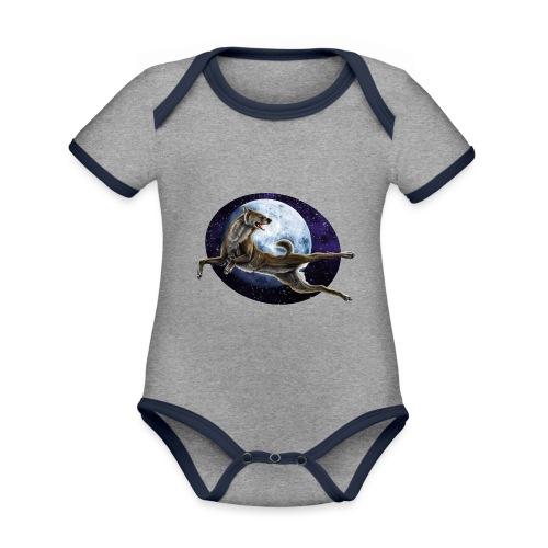 Galaxy Wolf - Baby Bio-Kurzarm-Kontrastbody