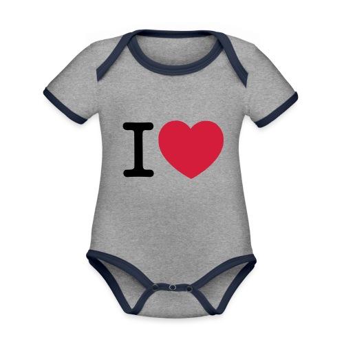 tekening - Baby contrasterend bio-rompertje met korte mouwen