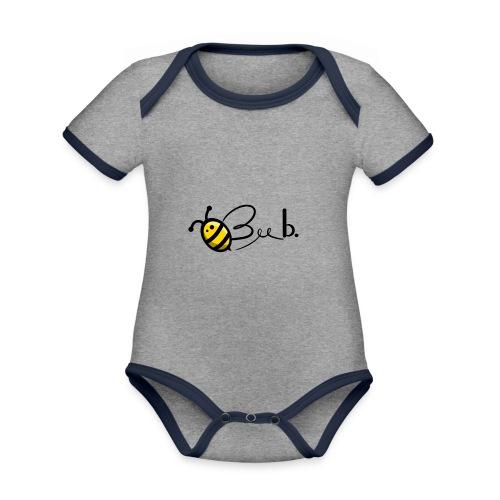 Bee b. Logo - Organic Baby Contrasting Bodysuit