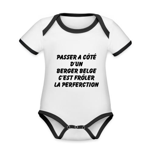 Frôler la perfection - Body Bébé bio contrasté manches courtes