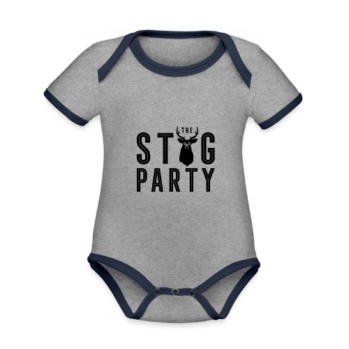 THE STAG PARTY - Organic Baby Contrasting Bodysuit