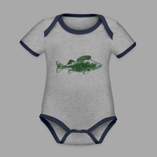Perch - Vauvan kontrastivärinen, lyhythihainen luomu-body