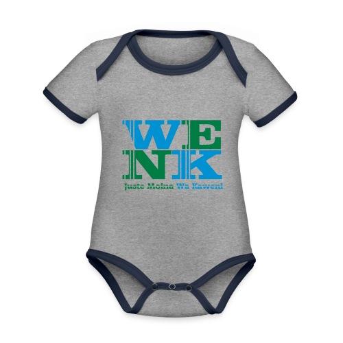 WENK - Body Bébé bio contrasté manches courtes