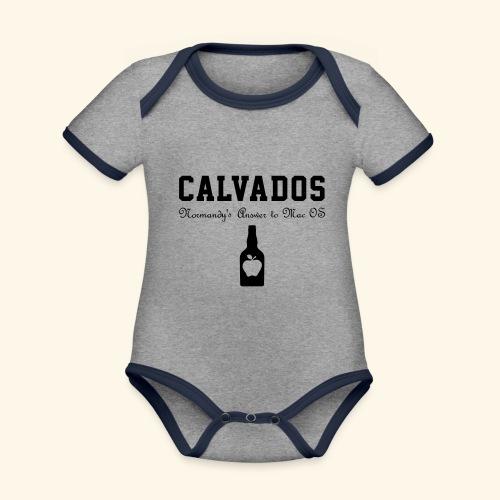 calvados - Baby Bio-Kurzarm-Kontrastbody