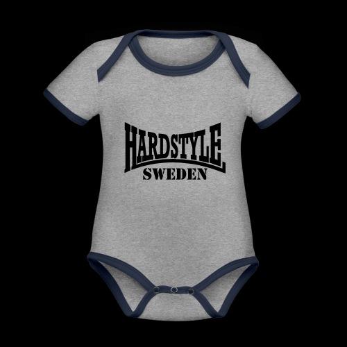 hardstyle - Ekologisk kontrastfärgad kortärmad babybody