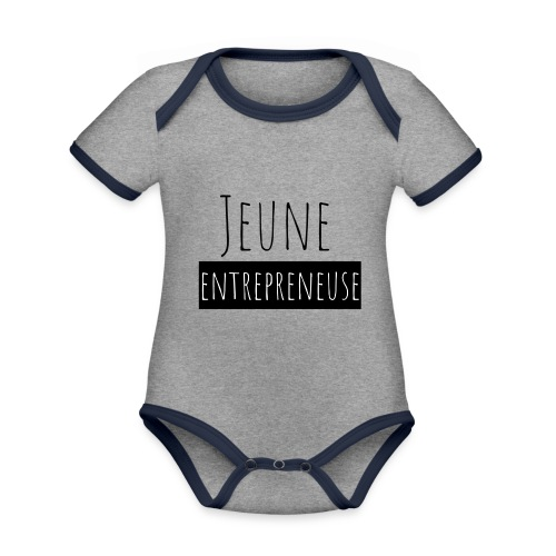 Jeune Entrepreneuse - Body Bébé bio contrasté manches courtes