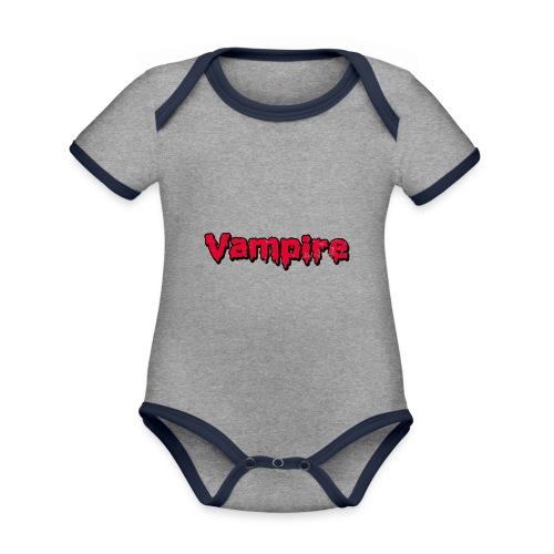 VAMPIRE Design - Organic Baby Contrasting Bodysuit
