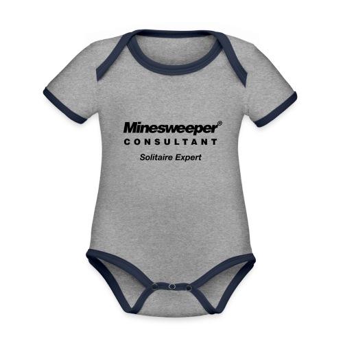 minesweeper - Baby Bio-Kurzarm-Kontrastbody