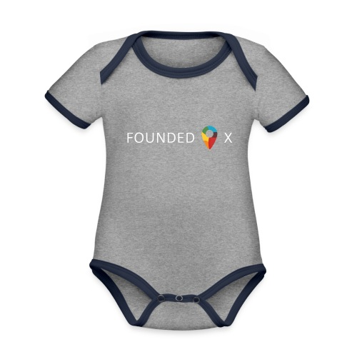 FoundedX logo white png - Organic Baby Contrasting Bodysuit