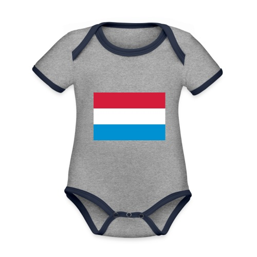 The Netherlands - Baby contrasterend bio-rompertje met korte mouwen