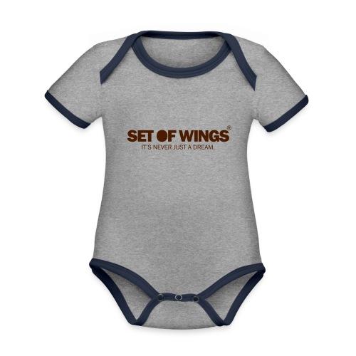 SETOFWINGS_logo - Organic Baby Contrasting Bodysuit
