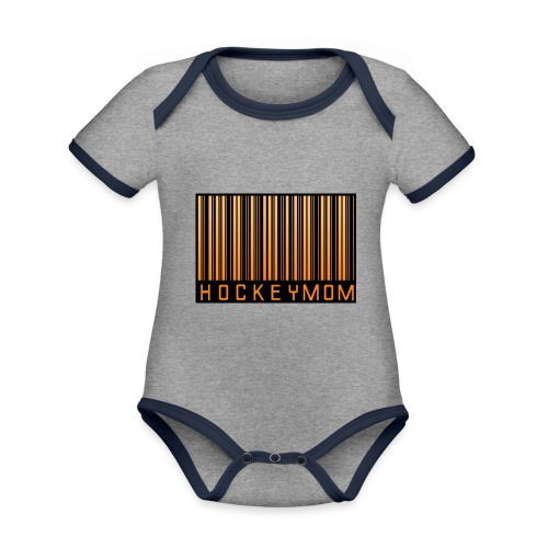 Hockey Mom Mamma Äiti Mother - Ekologisk kontrastfärgad kortärmad babybody