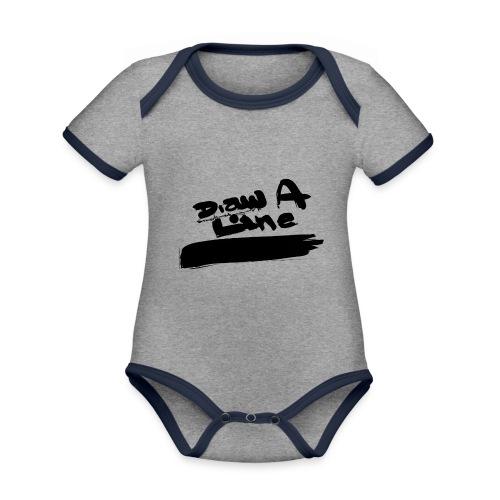 Draw A Line Stefan Lindbl - Ekologisk kontrastfärgad kortärmad babybody