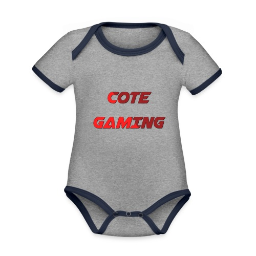 Cote Sweater Rode Letters - Organic Baby Contrasting Bodysuit