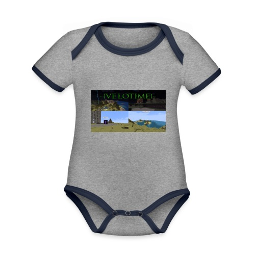 Velotime! - Ekologisk kontrastfärgad kortärmad babybody