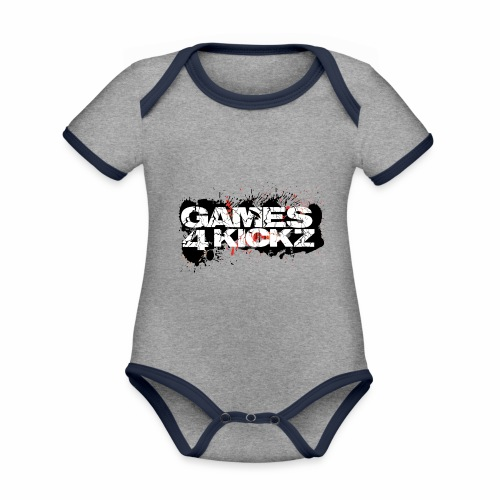 Games4Kickz Logo Splattered Background - Organic Baby Contrasting Bodysuit