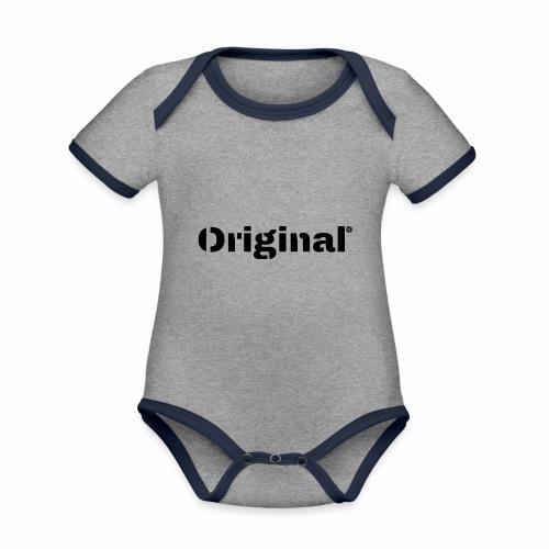 Original, by 4everDanu - Baby Bio-Kurzarm-Kontrastbody