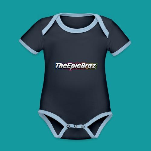 TheEpicBroz - Baby contrasterend bio-rompertje met korte mouwen