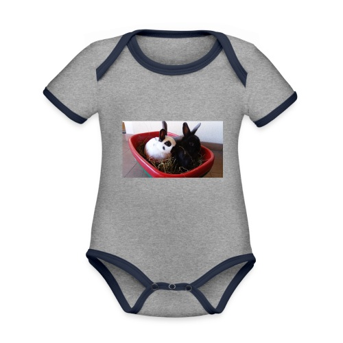 Warme Sachen mit dem Hasenlogo - Baby Bio-Kurzarm-Kontrastbody
