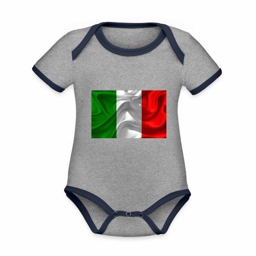 Italien - Baby Bio-Kurzarm-Kontrastbody