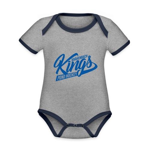 KINGS Logo 2019 einfach blue - Baby Bio-Kurzarm-Kontrastbody