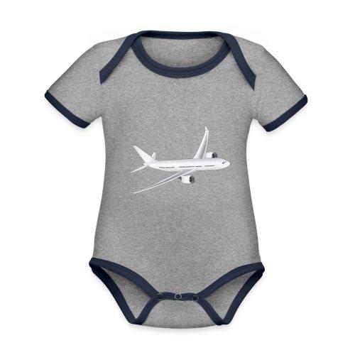 Flugzeug - Baby Bio-Kurzarm-Kontrastbody