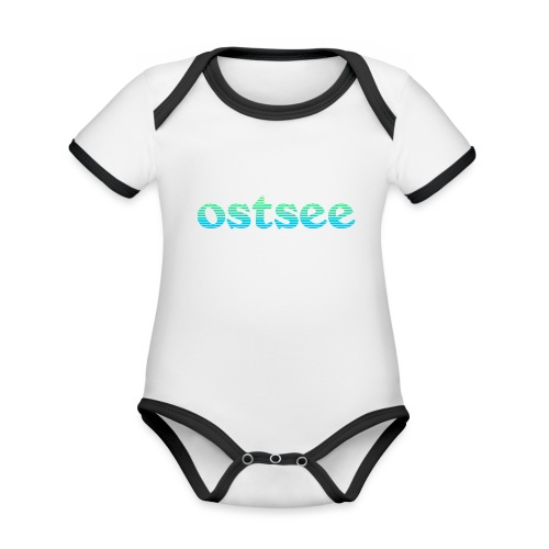 Ostsee Streifen - Baby Bio-Kurzarm-Kontrastbody