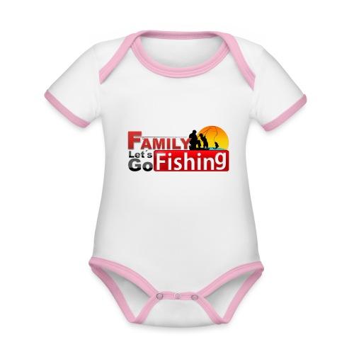 FAMILY LET´S GO FISHING FONDO - Body contraste para bebé de tejido orgánico