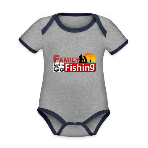 FAMILY LET'S GO FISHING FUND - Organic Baby Contrasting Bodysuit