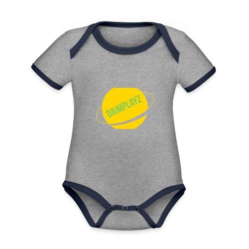 DaimPlayz - Baby contrasterend bio-rompertje met korte mouwen