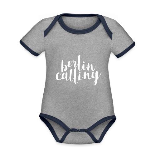 Berlin Calling - Baby Bio-Kurzarm-Kontrastbody