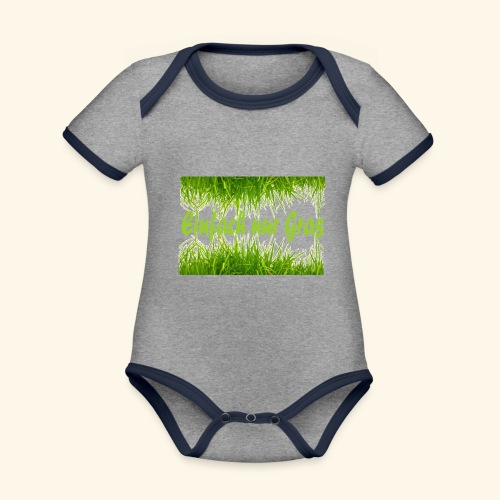 einfach nur gras2 - Baby Bio-Kurzarm-Kontrastbody
