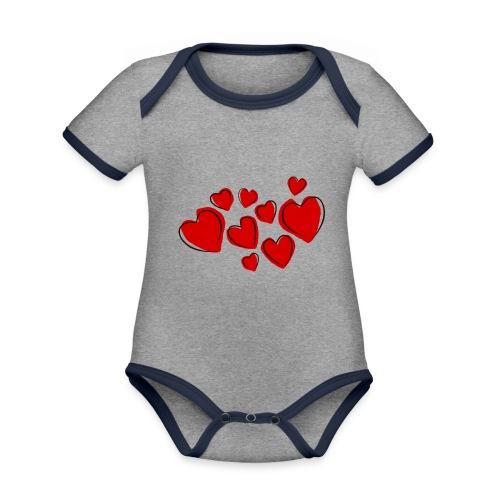 hearts herzen - Baby Bio-Kurzarm-Kontrastbody