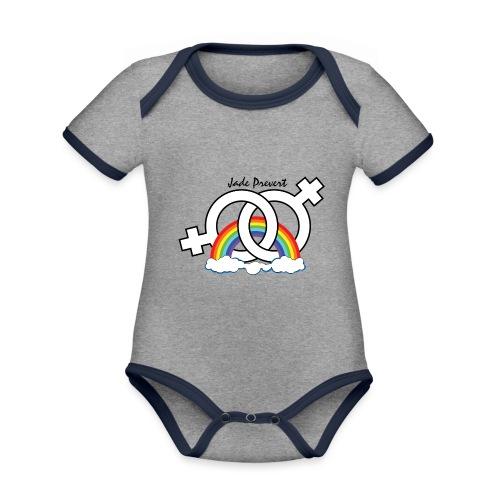 Rainbow Hom - Body contraste para bebé de tejido orgánico
