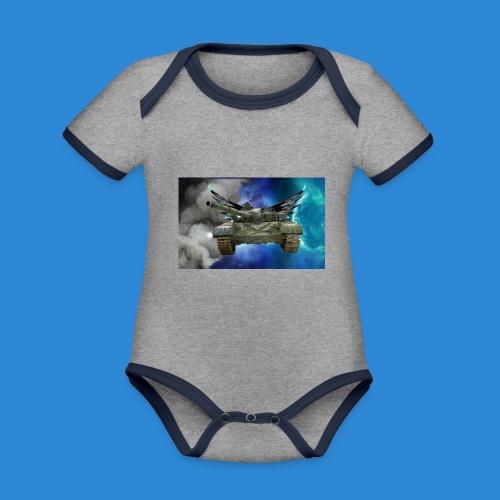 T72 - Organic Baby Contrasting Bodysuit