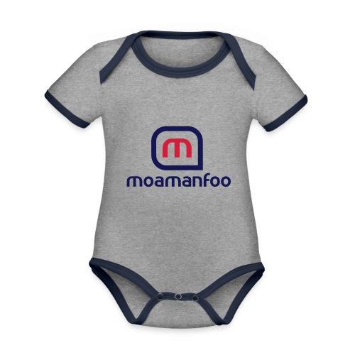 Moamanfoo - Body Bébé bio contrasté manches courtes