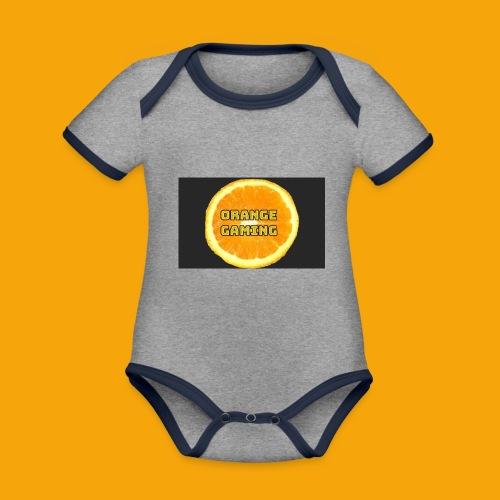 Orange_Logo_Black - Organic Baby Contrasting Bodysuit