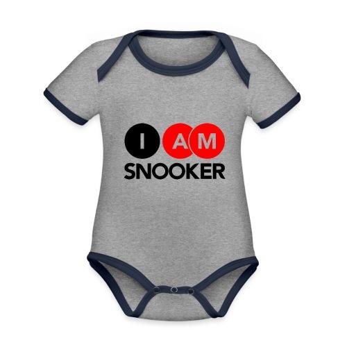 I AM SNOOKER - Organic Baby Contrasting Bodysuit