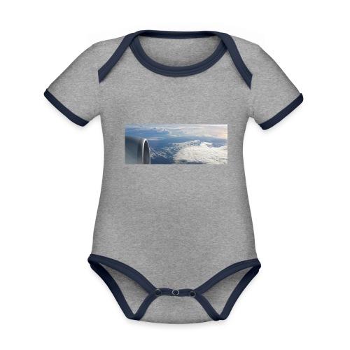 Flugzeug Himmel Wolken Australien - Baby Bio-Kurzarm-Kontrastbody