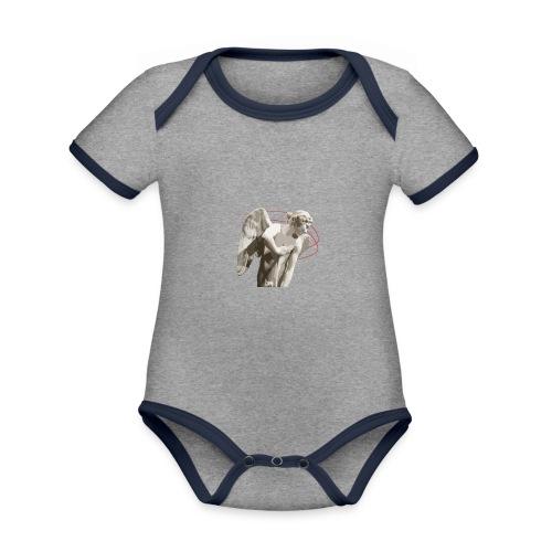 Angelo custode 2 - Body da neonato a manica corta, ecologico e in contrasto cromatico