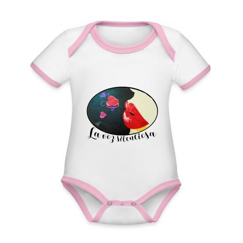La Voz Silenciosa - Besos - Body contraste para bebé de tejido orgánico